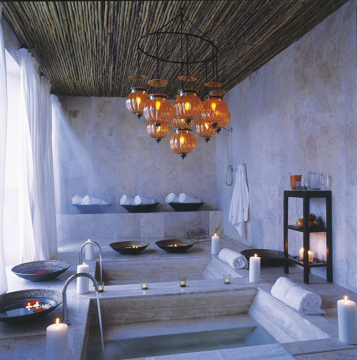 With honeymoon getaways, pampering is top of mind, and it is small wonder that safaris are now referred to as spa'faris, as one is spoilt for choice with most top end safari lodges. This decadent spa bathroom is at Royal Malewane in the Timbavati Game Reserve, in South Africa's Limpopo Province.