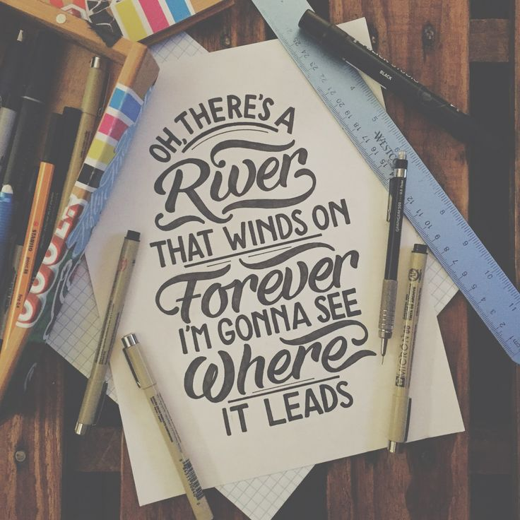 Hand-lettered Lord Huron lyrics by Joshua Phillips