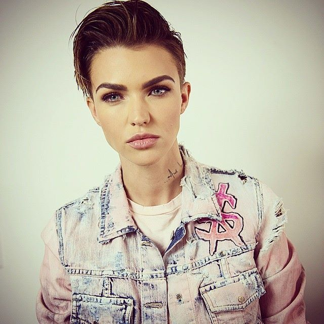 Feeling both male and female. Ruby Rose is a famous actress, making it acceptable.