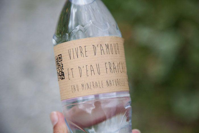 Idée pour les étiquettes des bouteilles d'eau #mariage #wedding