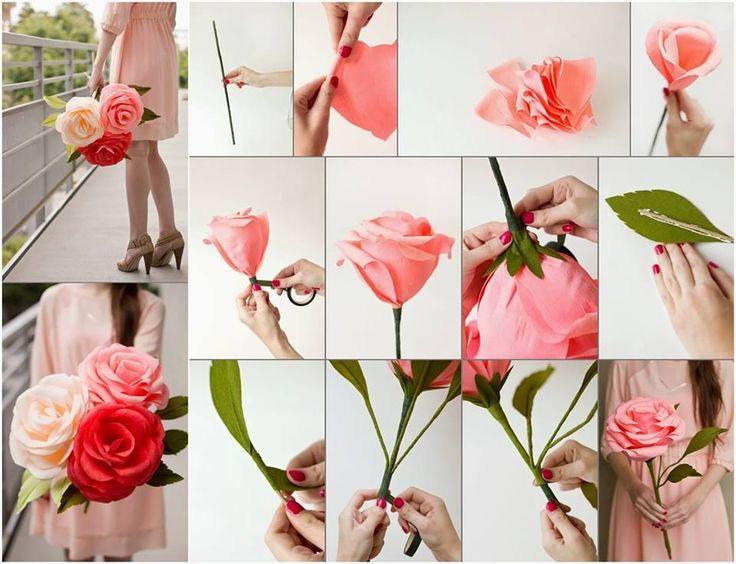 DIY Crepe Paper Roses