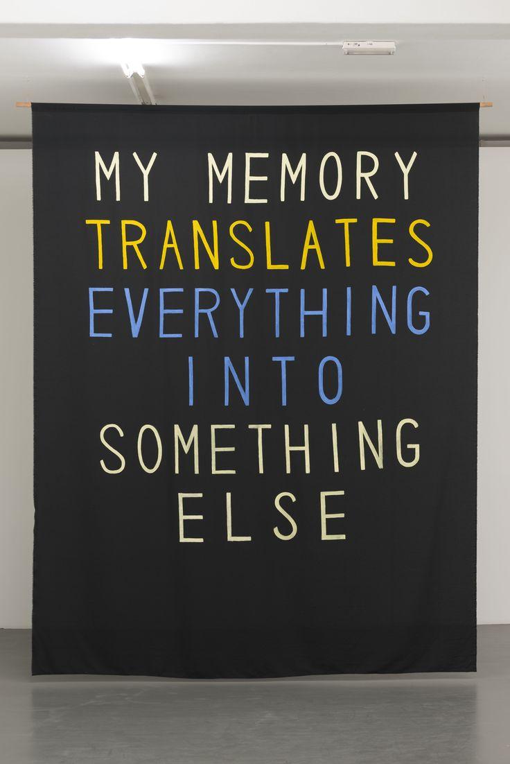 Sharon Hayes, My Memory Translates Everything into Something Else, 2012