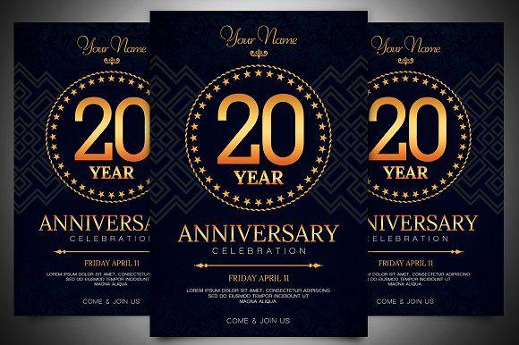 Anniversary Invitation Template by Gayuma on @creativemarket