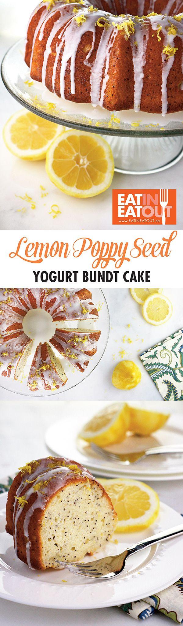 I love Bundt cakes and so does Mom! Lemon Poppy Seed Yogurt Cake #yummy #mothersday #dessert