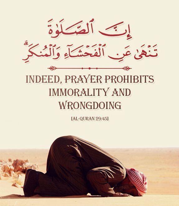 [Al-Quran, Surat Al-'Ankabut 29, Verse 45, ] : (Ey Muhammed!) Kitaptan sana vahyolunanı oku, namazı da dosdoğru kıl. Çünkü namaz, insanı hayâsızlıktan ve kötülükten alıkor. Allah'ı anmak (olan namaz) elbette en büyük ibadettir. Allah, yaptıklarınızı biliyor. #AyatOfTheDay #Quran #VersesOfQuran  #Hadith  #islam #quotes #quranquotes #quranicverse #ayet #MiraclesOftheQuran #quranclub  #islamic #Quran #religion #müslüman #mumin