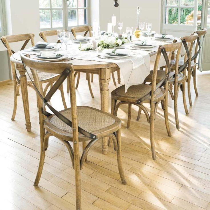 ausziehbarer esstisch 6 bis 10 personen aus eiche b 120 250 cm hotelm llerjosey 39 s pinterest. Black Bedroom Furniture Sets. Home Design Ideas