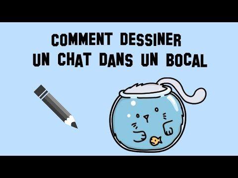 comment dessiner un chat dans un bocal poisson youtube dessin facile pinterest comment. Black Bedroom Furniture Sets. Home Design Ideas