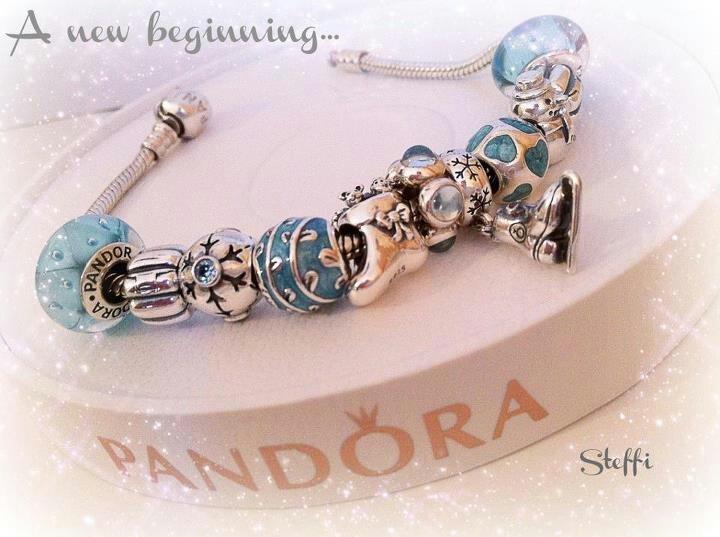 loving the cool festive blues of this pandora bracelet