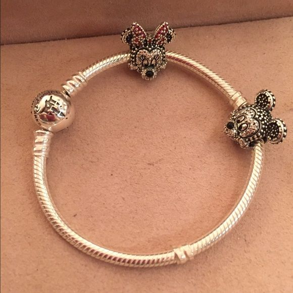 Pandora Disney Limited Edition Sparkling Mickey Pandora Disney Limited Edition Sparkling Mickey Portrait Charm. Retails for $90 + tax and you can only get in Disney Parks. Pandora Jewelry Bracelets