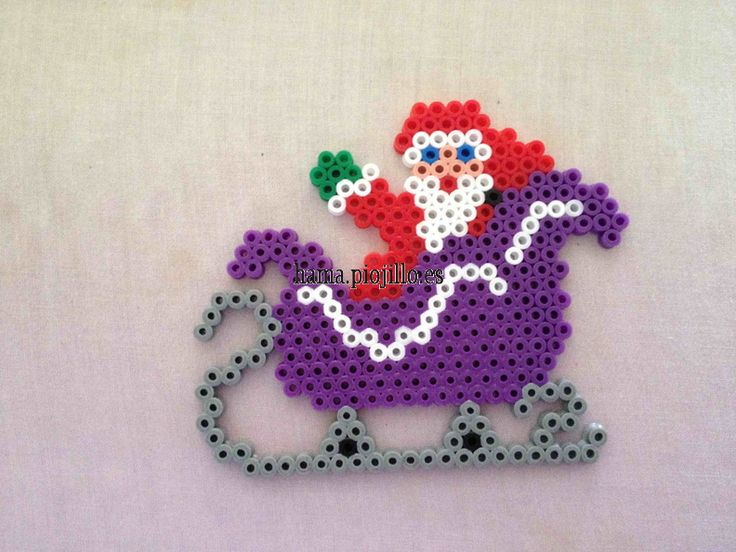 Christmas Santa Claus hama beads - Las cosas de Hama de Ana y Santi