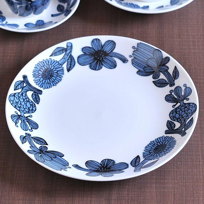 グスタフスベリ ブルーアスター プレート 22cm 復刻版 《 Gustavsberg BLUE ASTER 皿 ラウンド 食器 洋食器 ブランド食器 北欧 おしゃれ お洒落 収納 シンプル 》 ( キッチンブランチ )