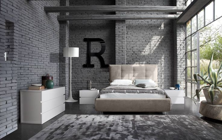 White matt Italian stylish bedroom set. This is a modern Italian bedroom set that is made of excellent quality material to give you a luxurious rest and sleep. Inebriating atmosphere to live the night. The high cushioned headboard of this Italian platform bed guarantees an extra comfort both while s...