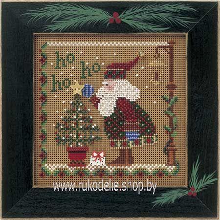 Смех Санты. Вышивка/ Embroidery. Набор для вышивки крестиком и бисером Mill Hill. Рождество, Новый год.
