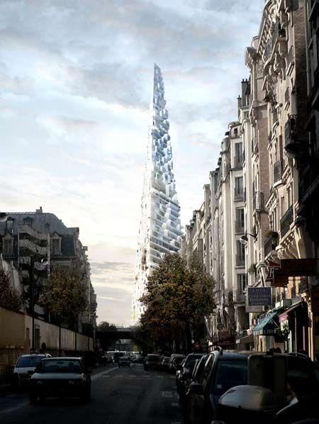 Le Projet Triangle by Herzog & de Meuron Architects Herzog & de Meuron have unveiled their design for a triangular building in the Porte de Versailles area of Paris, France.