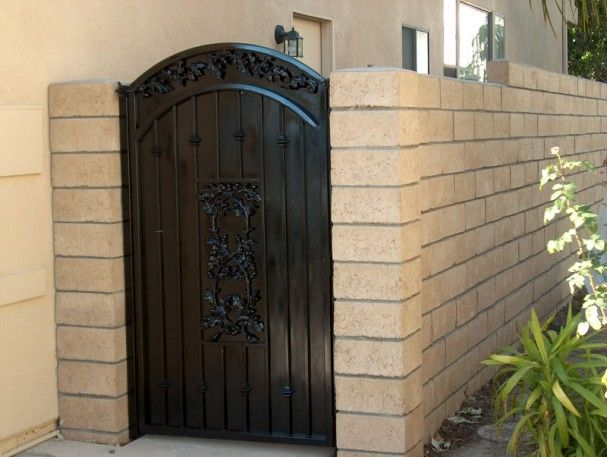 Wrought Iron Fence On Top Of Block Wall Google Search