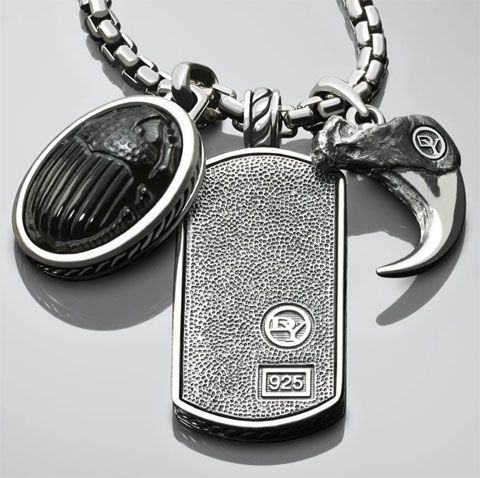 Some men shy away from jewelry because they consider it girly... but there's NOTHING girly about this piece from David Yurman!