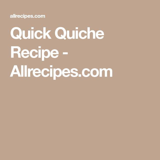 Quick Quiche Recipe - Allrecipes.com