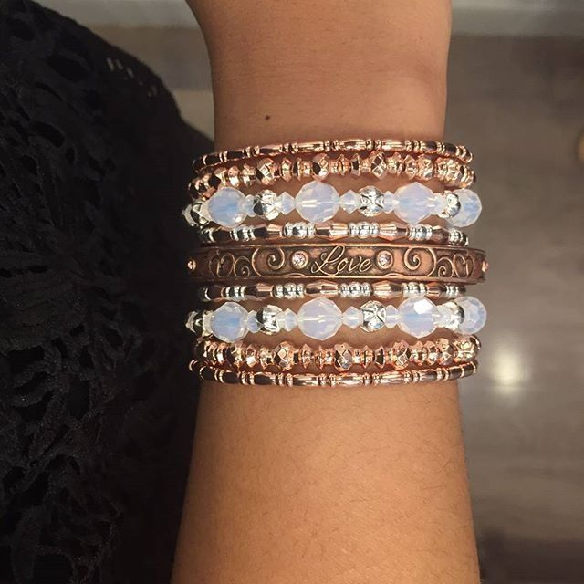 ALEX AND ANI Valentine's Day Collection 2017 | Because I Love You Love Cuffs | ALEX AND ANI Beaded Bangles with Swarovski Crystals