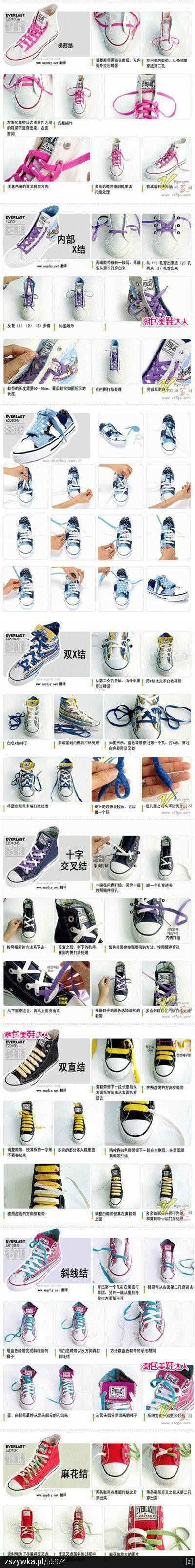 trampki: Shoelace Style, Kids Stuff, Clothing, Ties, Conver, 帆布鞋 一定, Kategorii Diy, Winter Boots, Cool Shoes Lace