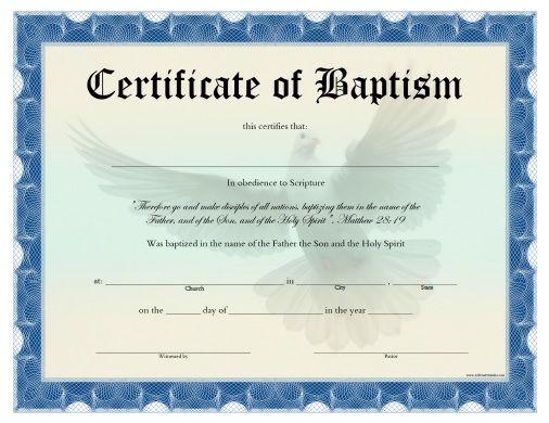 free printable certificate of baptism