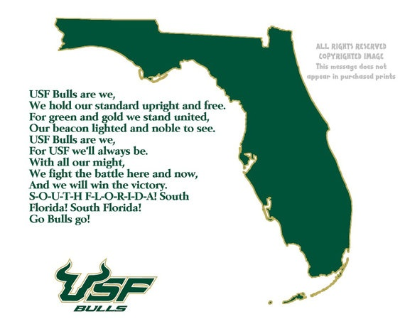usf bulls florida state map sports fight by patriotislanddesigns  usf bulls florida state map sports fight by patriotislanddesigns 19 50 bulls love sports fights and 50th