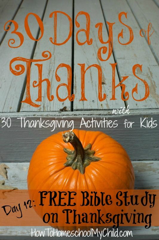 Thanksgiving Bible Lessons for Kids & Adults - Christ ...