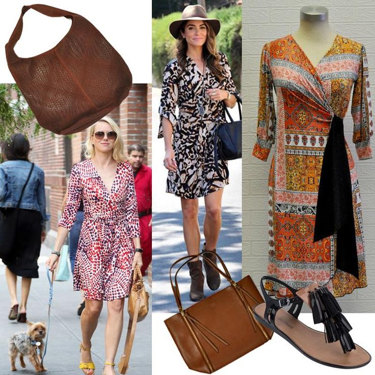 A #wrap dress is a classic and always works! #DVF #fashion #iconic