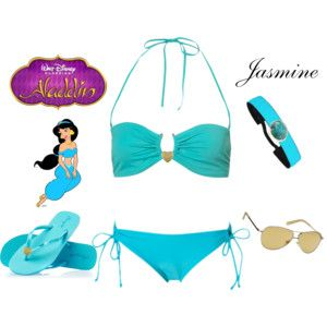 Jasmine Inspired ~ Pool Party Outfit