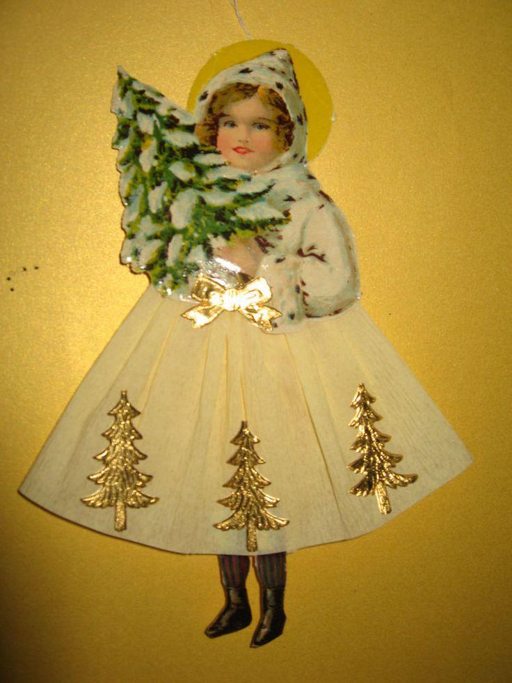 Verkaufe ein schönes Papier- Winterkind mit Tannenbaum aus feinem Krepp- Papier, einer alten Oblate, Dresdner Pappe und Bindfaden zum Aufhängen an den Christbaum. SCHÖNES PAPIER-WINTERKIND MIT TANNENBAUM CHRISTBAUMSCHMUCK GLANZBILDER DRESDNER PAPPE AUFHÄNGER WEIHNACHTEN siehe Fotos. | eBay!