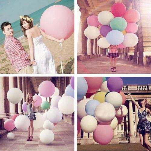 5 X Riesenballon Ballons Riesen-Ballon Hochzeit Latex Luftballons 36' Dekoration | eBay