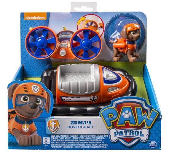 Buy PAW Patrol Vehicle and Pup - Zuma's Hovercraft at Argos.co.uk, visit Argos.co.uk to shop online for Vehicles and playsets, Baby and pre-school toys, Toys