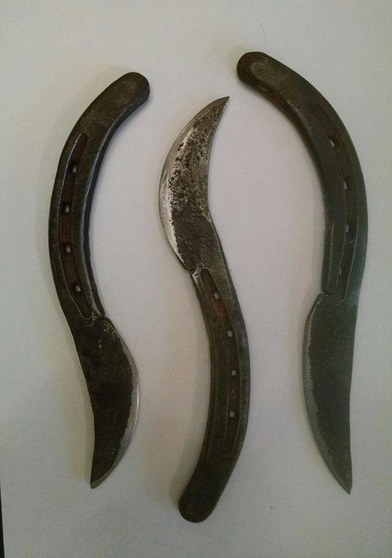 Blacksmith Made Horseshoe Knife by McNallyMetalDesign on Etsy