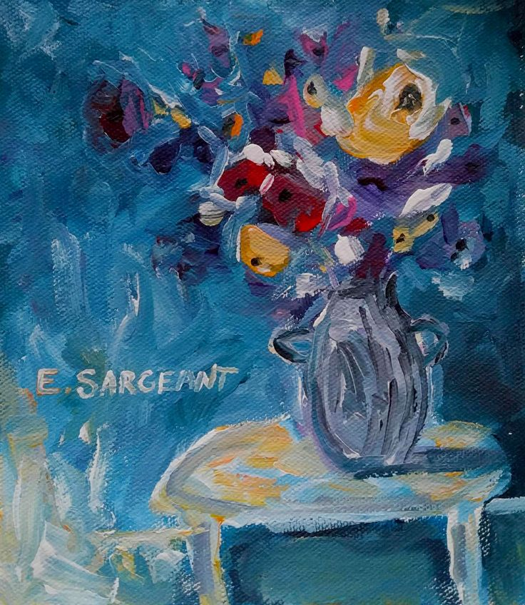 SOLD // Blue Floral by Elizabeth Sargeant