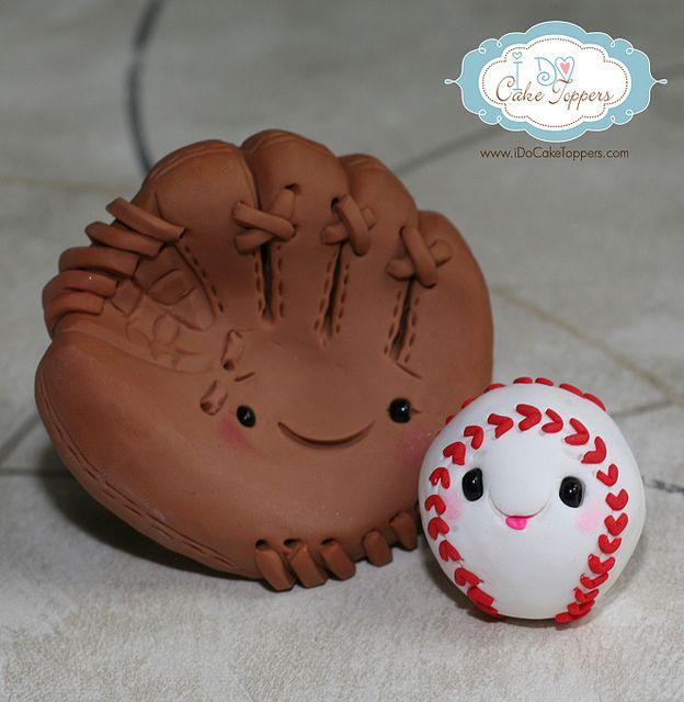 Baseball and Mitt by I Do Cake Toppers, via Flickr #baseball