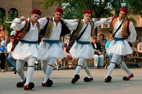 Greek Evzones dancing! OPA!