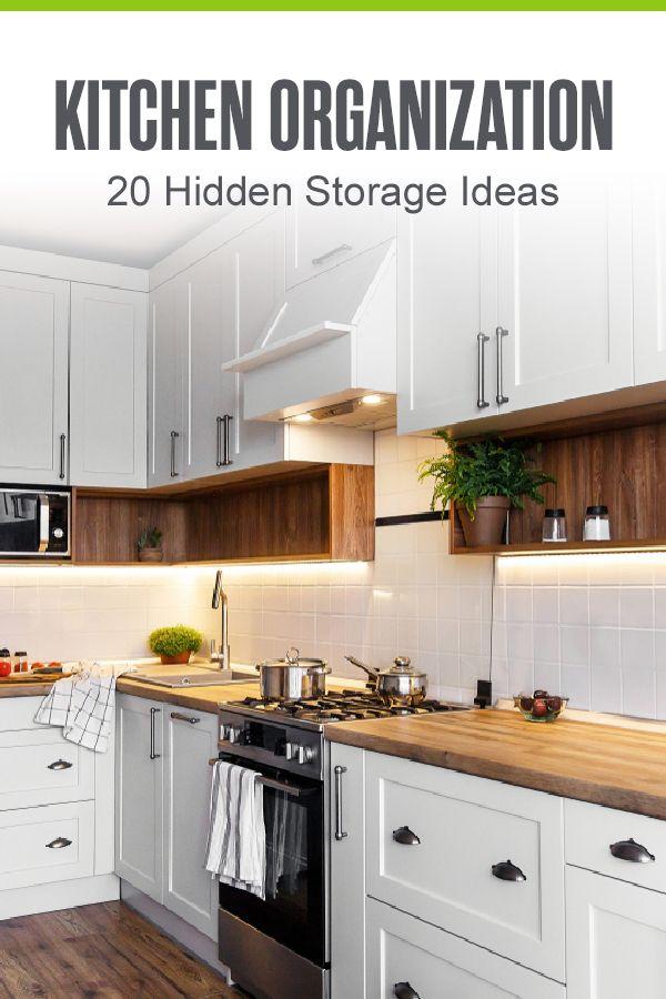 20 Hidden Kitchen Storage Ideas Extra Space Storage In 2020 Hidden Kitchen Extra Kitchen Storage Kitchen Storage