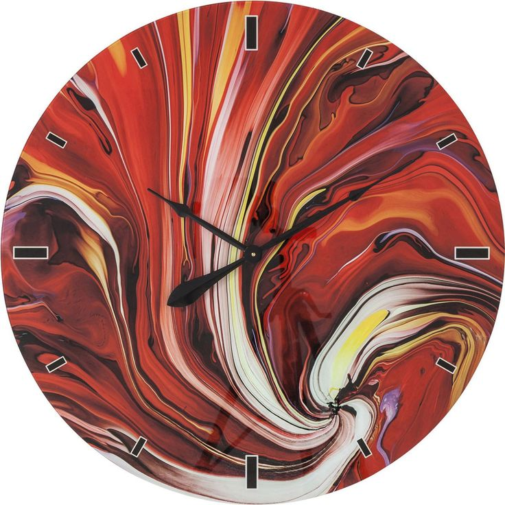 A striking surrealist infusion of shades and shapes, the aptly-entitled Chaos wall clock makes for an eye-catchingly eclectic addition to any decor.