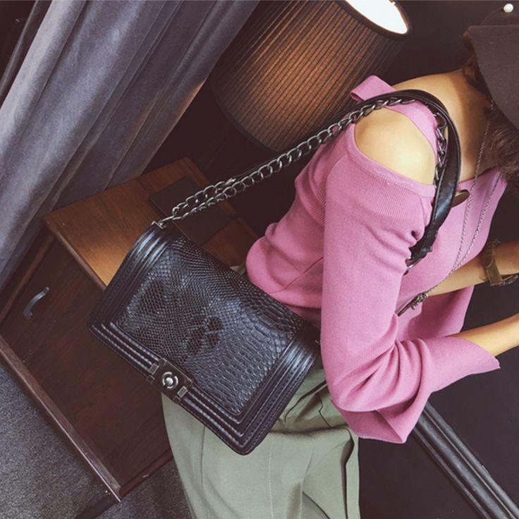 Luxury Brand Handbag Winter Women Messenger Bags Vintage Casual Small Bags Serpentine Pattern Female Crossbody Shoulder Bags 06 - HandBagList