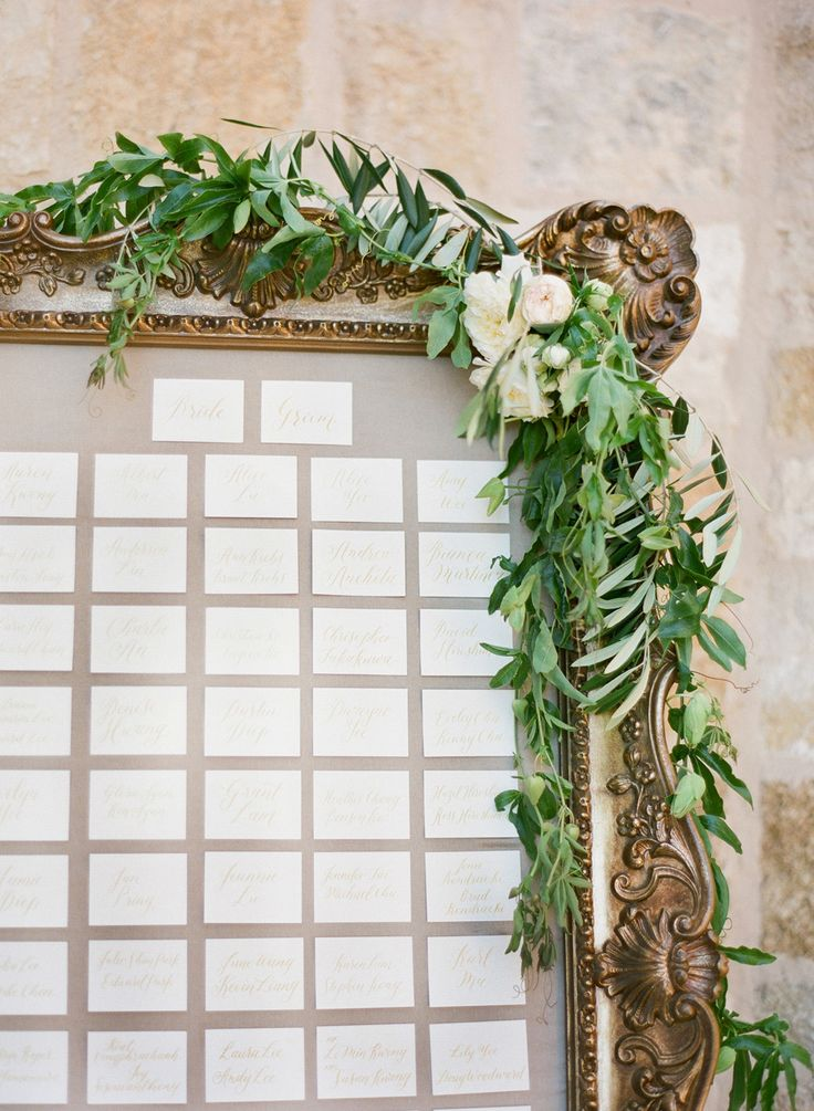 #escort-cards, #seating-chart  Photography: KT Merry Photography - ktmerry.com  Read More: http://www.stylemepretty.com/2014/10/14/soft-romantic-summer-winery-wedding/