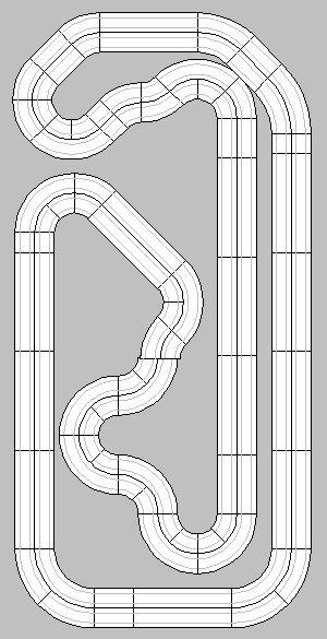 HO Slot Car Racing - HO Slot Car Track Layouts - 2 and 4-Lane Race ...