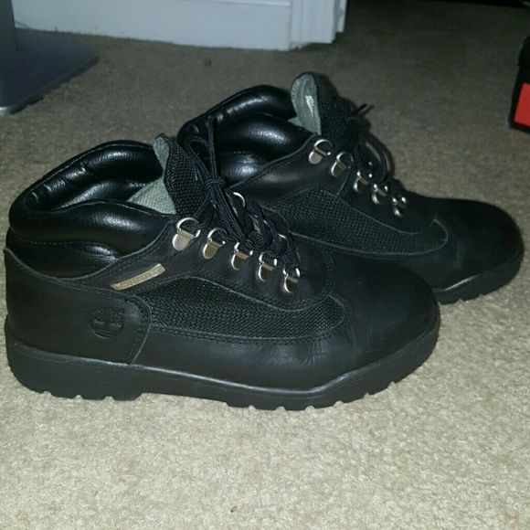 Black Timberland Field Boot Great for work. Descent condition. 8 Women's Timberland Shoes