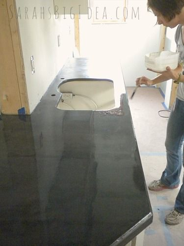 How to make super easy DIY concrete counters!