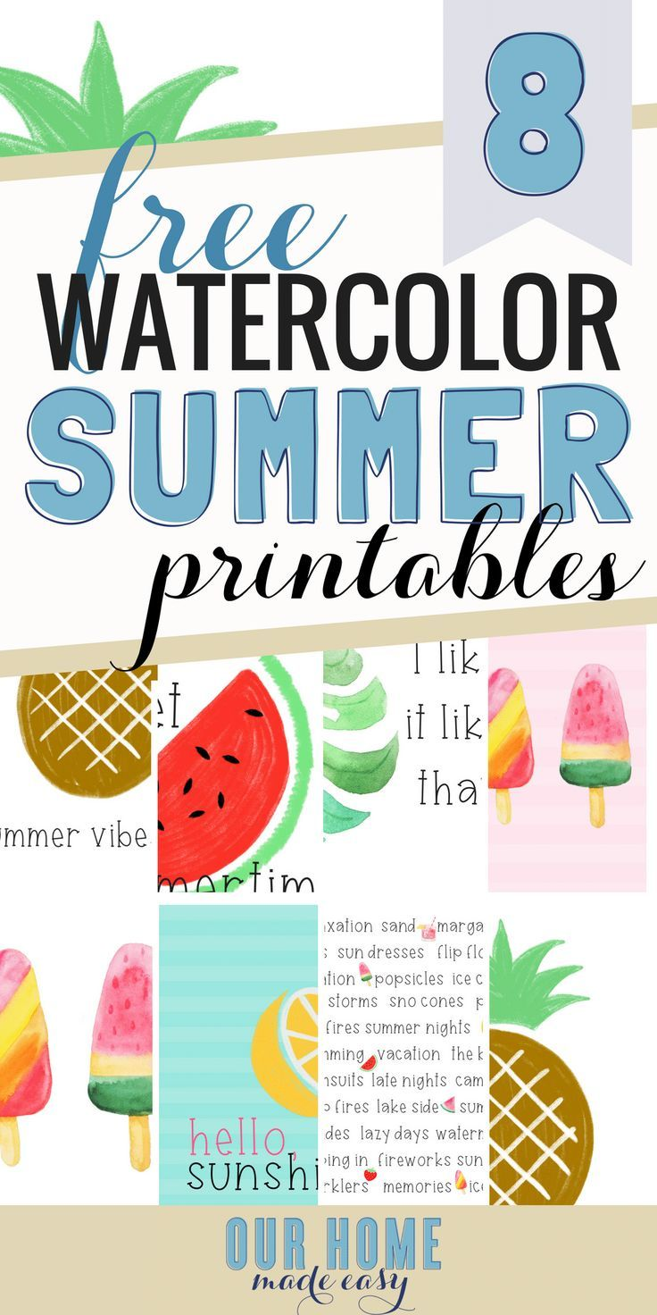 8 Free Summer Printables With Images Summer Printables Free