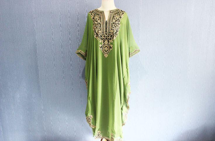 Green Maternity Dress Caftan Maxi Dress Plus Size Caftan Dress for beach cover ups, Resortwear, Loungewear, Maxi Dresses, Gift Dress by Yosika on Etsy https://www.etsy.com/listing/264329961/green-maternity-dress-caftan-maxi-dress
