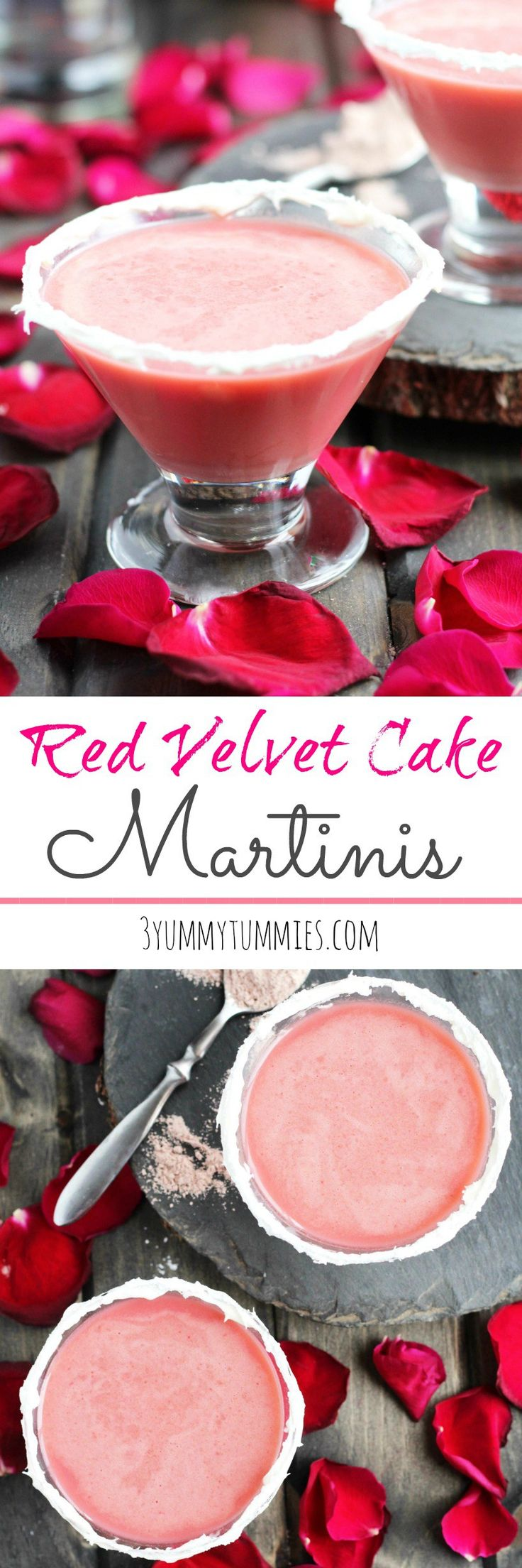 The perfect Valentine's Day cocktail with Red Velvet Cake mix! #redvelvetmartini #martini #redvelvetcocktail #valentinesdaycocktail #cocktail