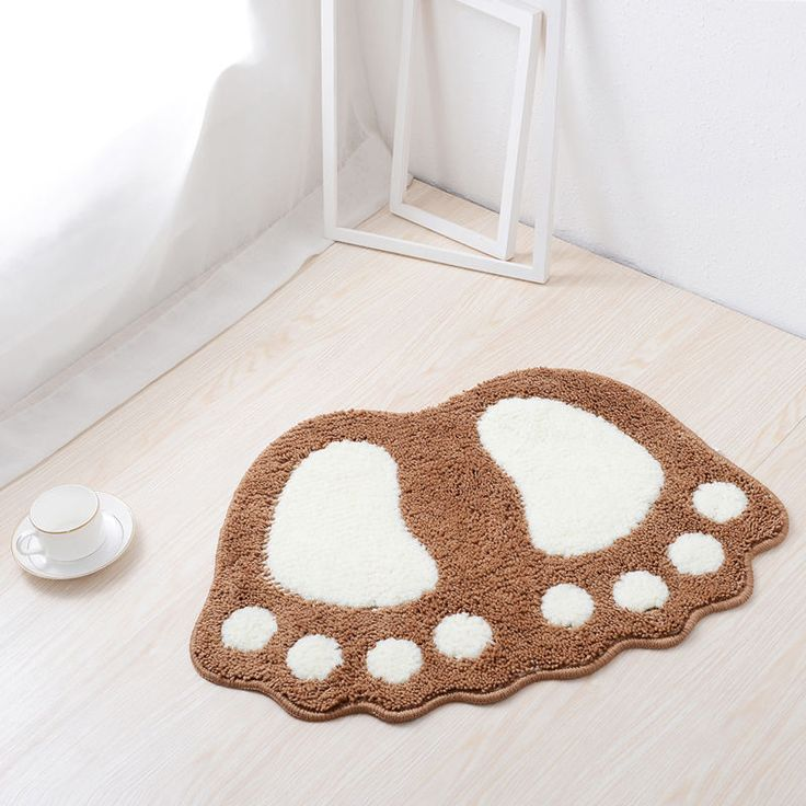 Big Feet Bath Toilet Mat Area Rugs Carpet Doormat Floor Mat Absorbent Mats