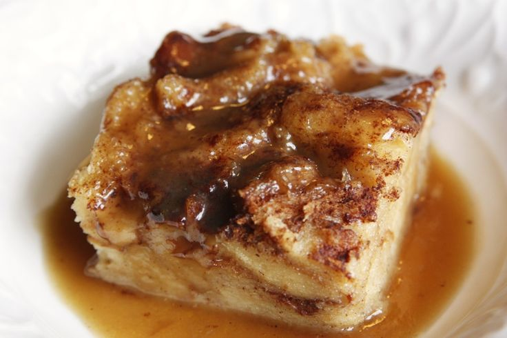 Classic Bread Pudding with Bourbon Sauce ~ It's warm and rich and soaked in bourbon!