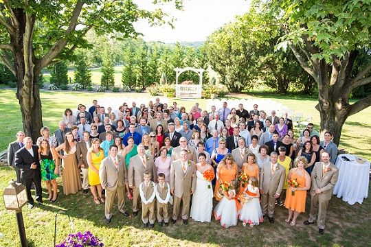 Brett Simpson Photography - group wedding photo, group shot of all wedding guests
