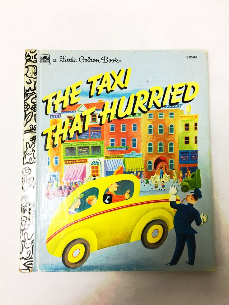 Little Golden Books.  The Taxi that Hurried.  Number 312-09. By Lucy Sprague Mitchell, Irma Simonton Black, Jessie Stanton. Tibor Gergely. by VintageBookworms on Etsy
