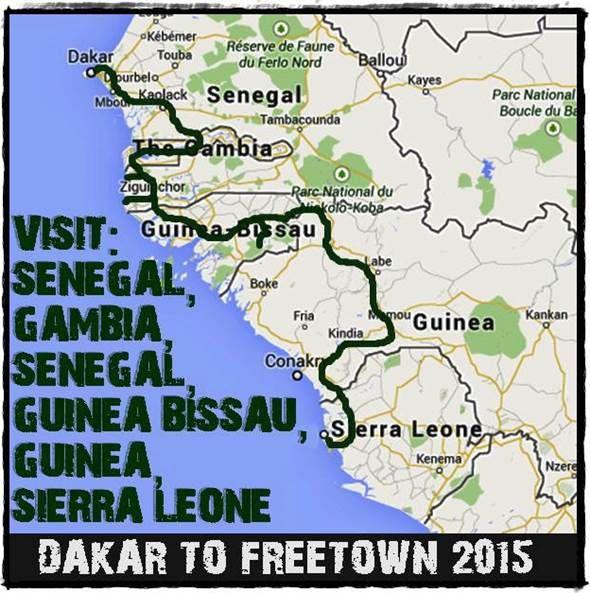 Our overland adventure trip between Dakar, Senegal and Freetown, Sierra Leone www.overlandingwestafrica.com/trip-1